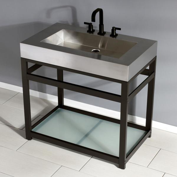 Kingston Br 37 In W Bath Vanity Oil Rubbed Bronze With