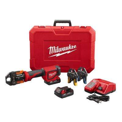 M18 18-Volt Lithium-Ion Cordless Short Throw PEX Press Tool Kit w/ (3) Viega PureFlow Jaws,(2) 2.0Ah Batteries & Charger