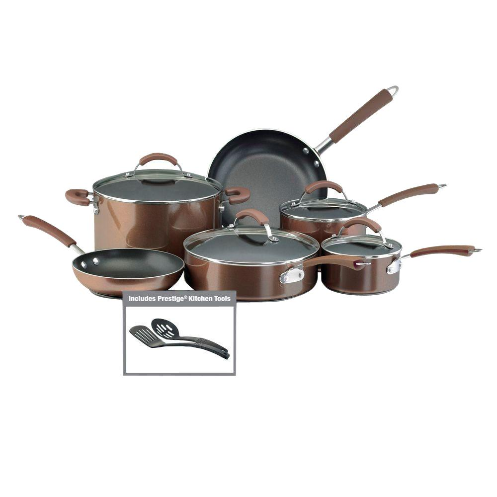 Farberware Millennium 12-Piece Bronze Cookware Set with Lids
