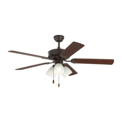 Haven LED 3 52 in. Indoor Bronze Ceiling Fan with Light Kit