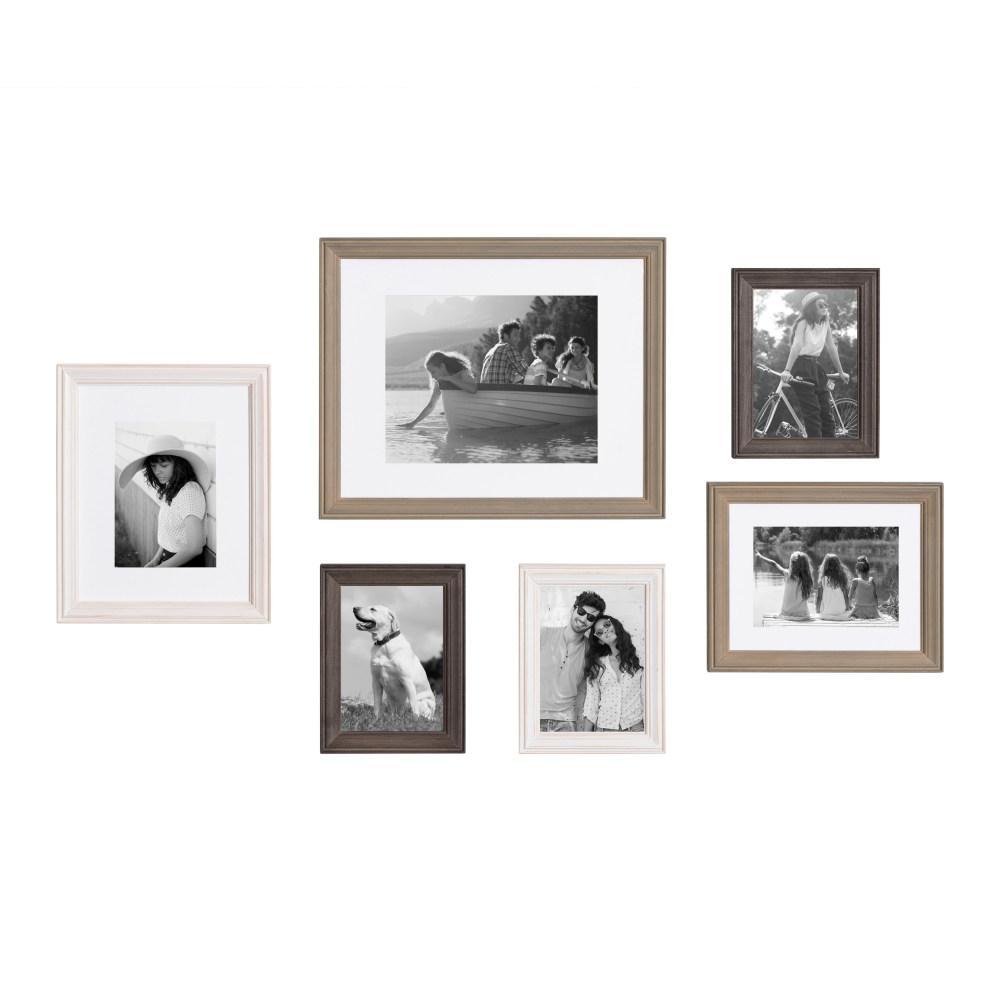 Bordeaux Multi/Gray Picture Frames (Set of 6)