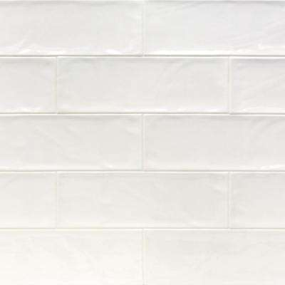 Pier White 4 in. x 12 in. 6 mm Polished Ceramic Subway Wall Tile (33 piece 10.76 sq. ft. / Box)