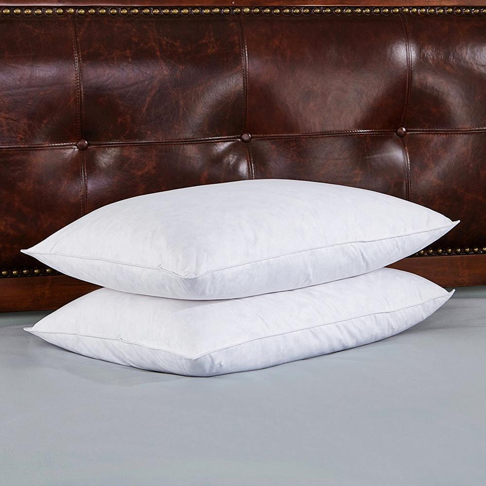 Medium Density Feather & Down Jumbo Pillow (Set of 2)