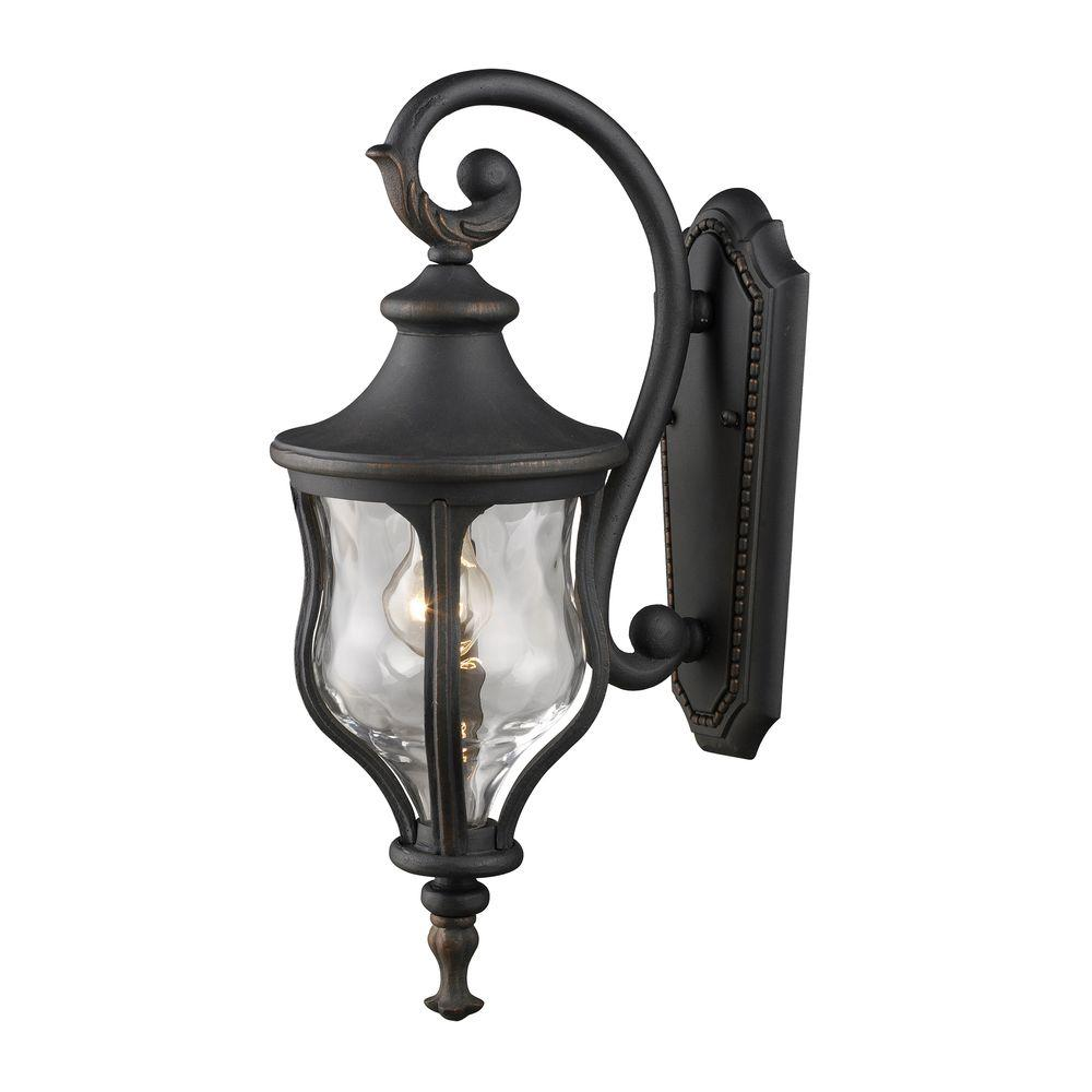 Titan Lighting Mini Outdoor Weathered Charcoal Wall Sconce-DISCONTINUED