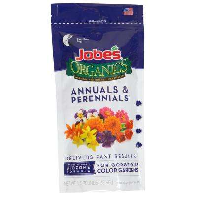 1.5 lb. Organic Granular Annuals and Perennials Fertilizer with Biozome, OMRI Listed