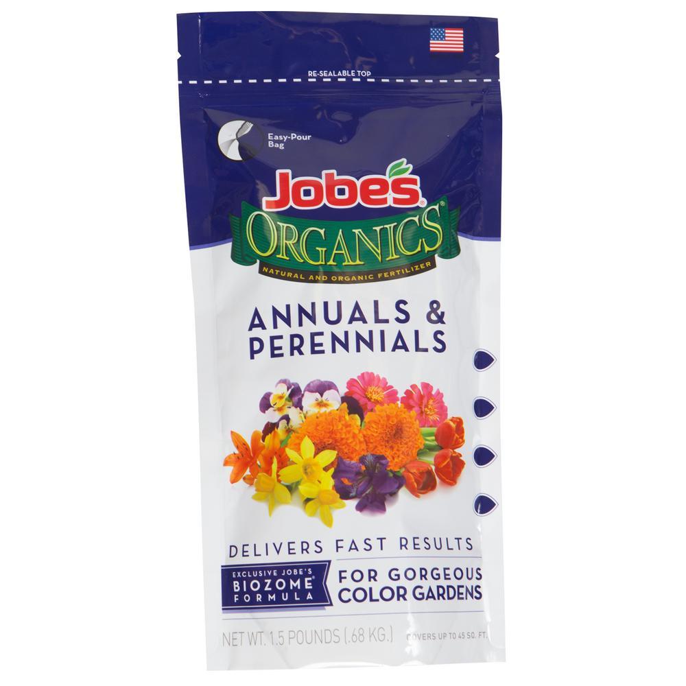 1.5 lb. Organic Granular Annuals and Perennials Fertilizer with Biozome, OMRI Listed