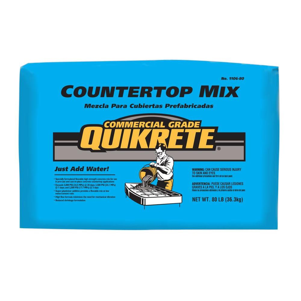 Quikrete 80 Lb Commercial Grade Countertop Mix 1106 80 The Home Depot