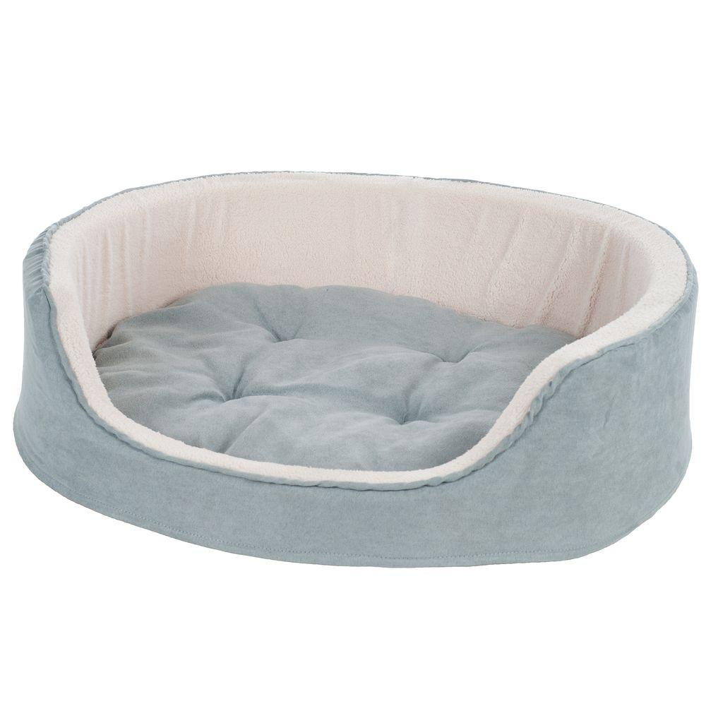 Petmaker Large Gray Cuddle Round Suede Terry Pet Bed 80