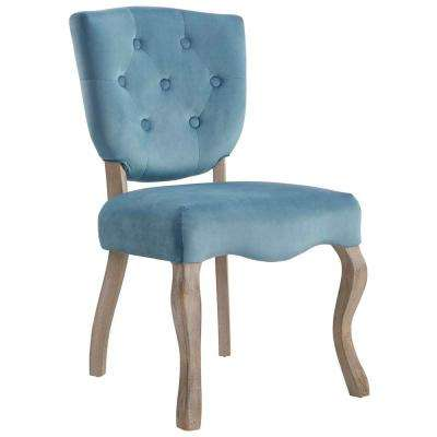 Array Sea Blue Vintage French Dining Side Chair