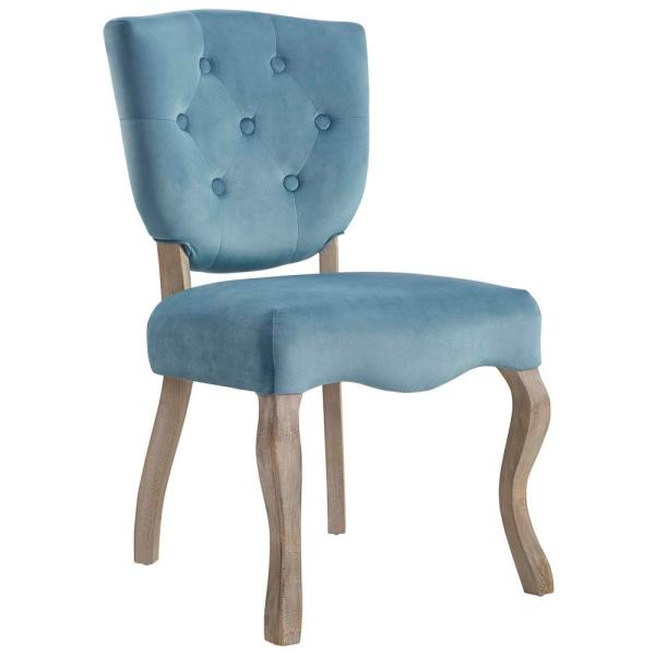 MODWAY Array Sea Blue Vintage French Dining Side Chair