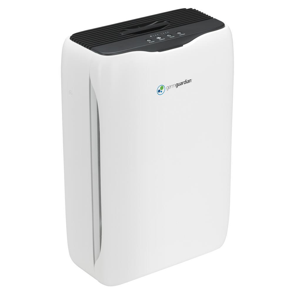 18 in. 3-in-1 HEPA Filter Air Purifier for Homes, Medium Rooms, Allergies, Smoke, Dust, Dander, Pollen and Odor
