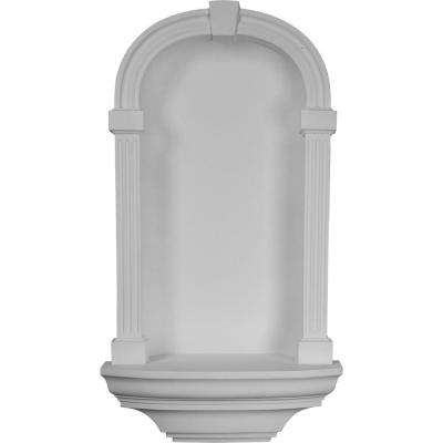 21-3/4 in. x 9-3/4 in. x 39-3/8 in. Primed Polyurethane Recessed Mount Adonis Wall Niche