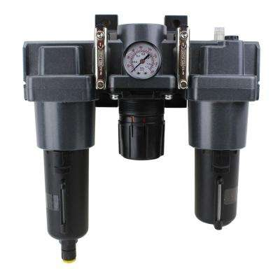 1 in. NPT Metal FRL Air Filter Regulator and Lubricator System