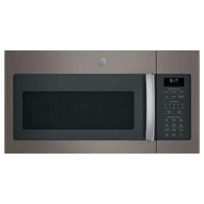 1.7 cu. ft. Over the Range Microwave with Sensor Cooking in Slate, Fingerprint Resistant