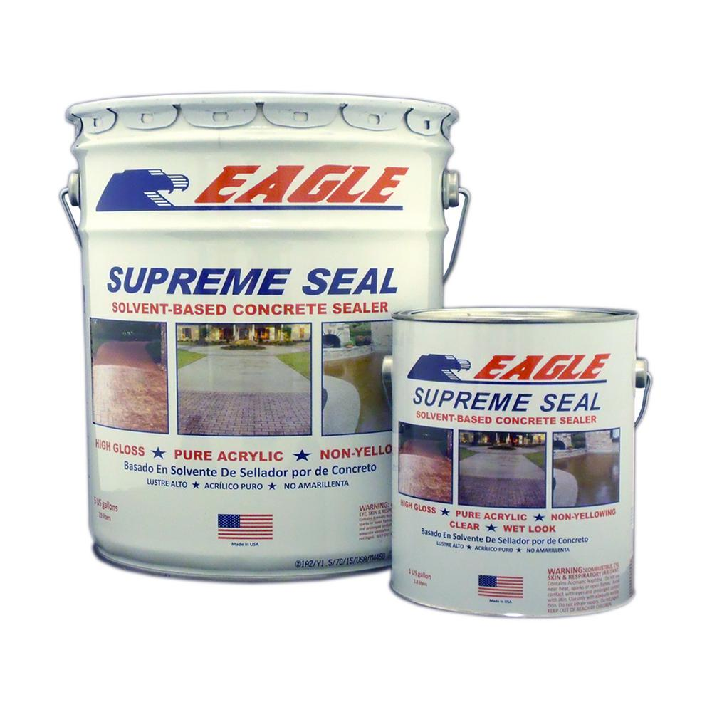 1 gal. Supreme Seal Clear High Gloss Solvent-Based Acrylic Concrete Sealer