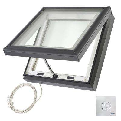 22-1/2 in. x 22-1/2 in. Fresh Air Electric Venting Curb-Mount Skylight with Laminated Low-E3 Glass