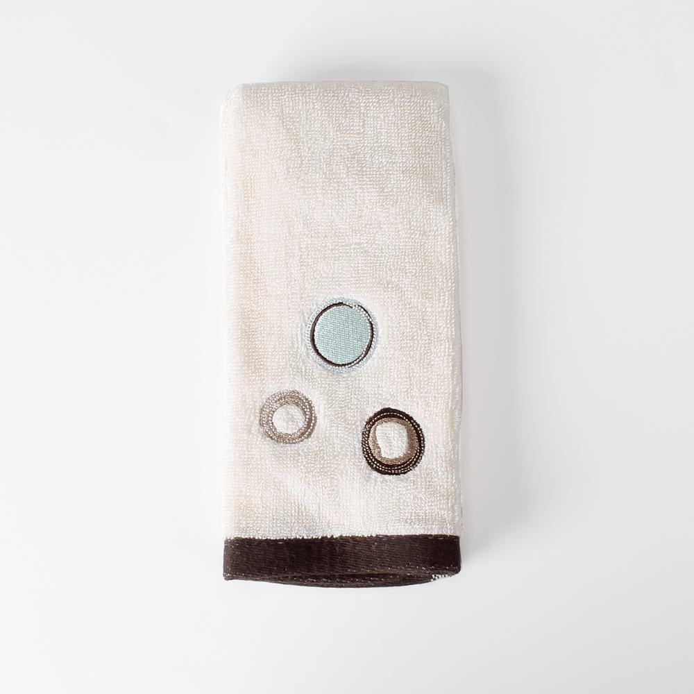Otto Natural Geometric Cotton Single Fingertip Towel