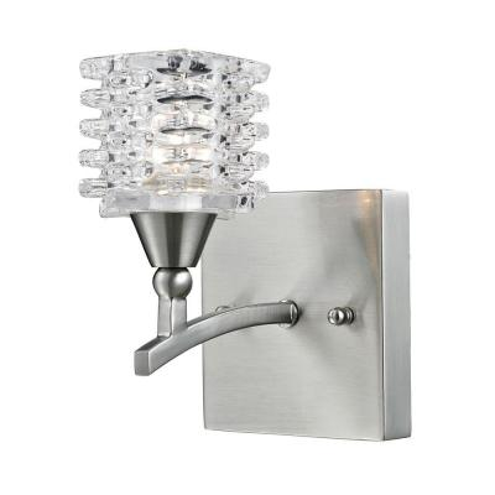 Matrix 1-Light Satin Nickel Bath Bar Light
