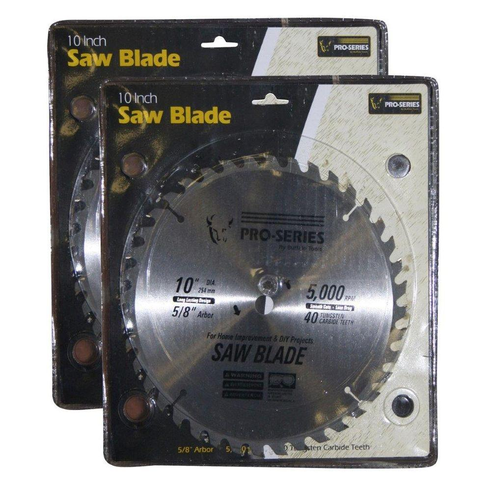 Pro Series 10 In Carbide Tip Saw Blade Set 2 Pack