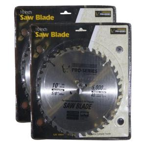 PRO-SERIES 10 inch Carbide Tip Saw Blade Set (2-Pack) by PRO-SERIES
