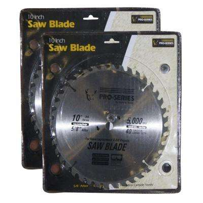 10 in. Carbide Tip Saw Blade Set (2-Pack)