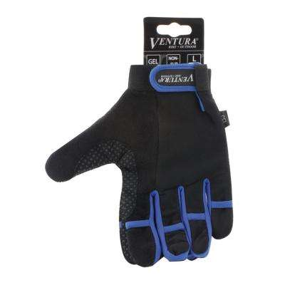 Extra Large Blue Full Finger Bike Gloves