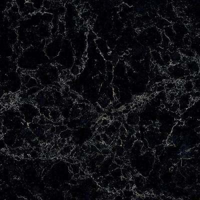 10 in. x 5 in. Quartz Countertop Sample in Vanilla Noir