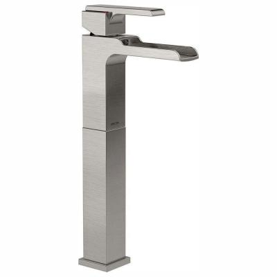 Ara Single Hole Single-Handle Vessel Bathroom Faucet with Channel Spout in Stainless
