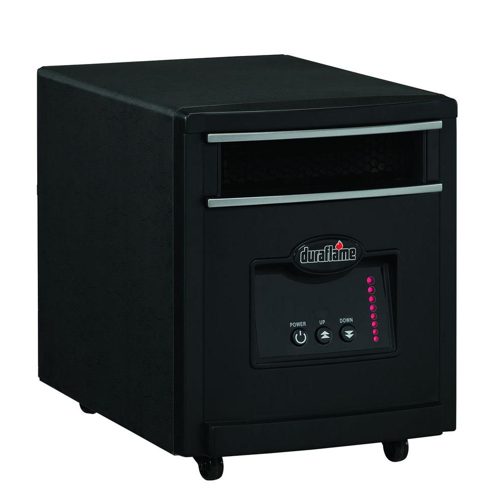 Duraflame 1500-Watt Infrared Quartz Electric Portable Heater - Black Steel Finish