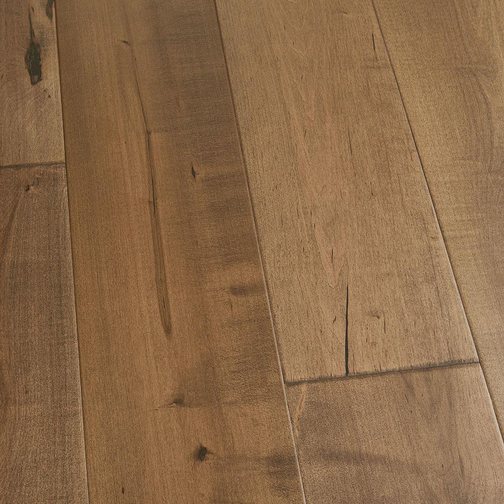 Malibu Wide Plank Take Home Sample Maple Cardiff Engineered Click Hardwood Flooring 5 In. X 7 In.
