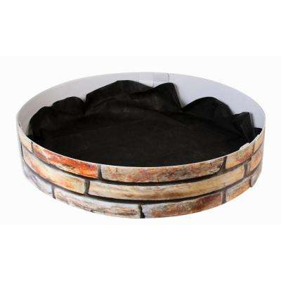 33 in. Dia Corrugated Plastic Sandstone Grow Rings