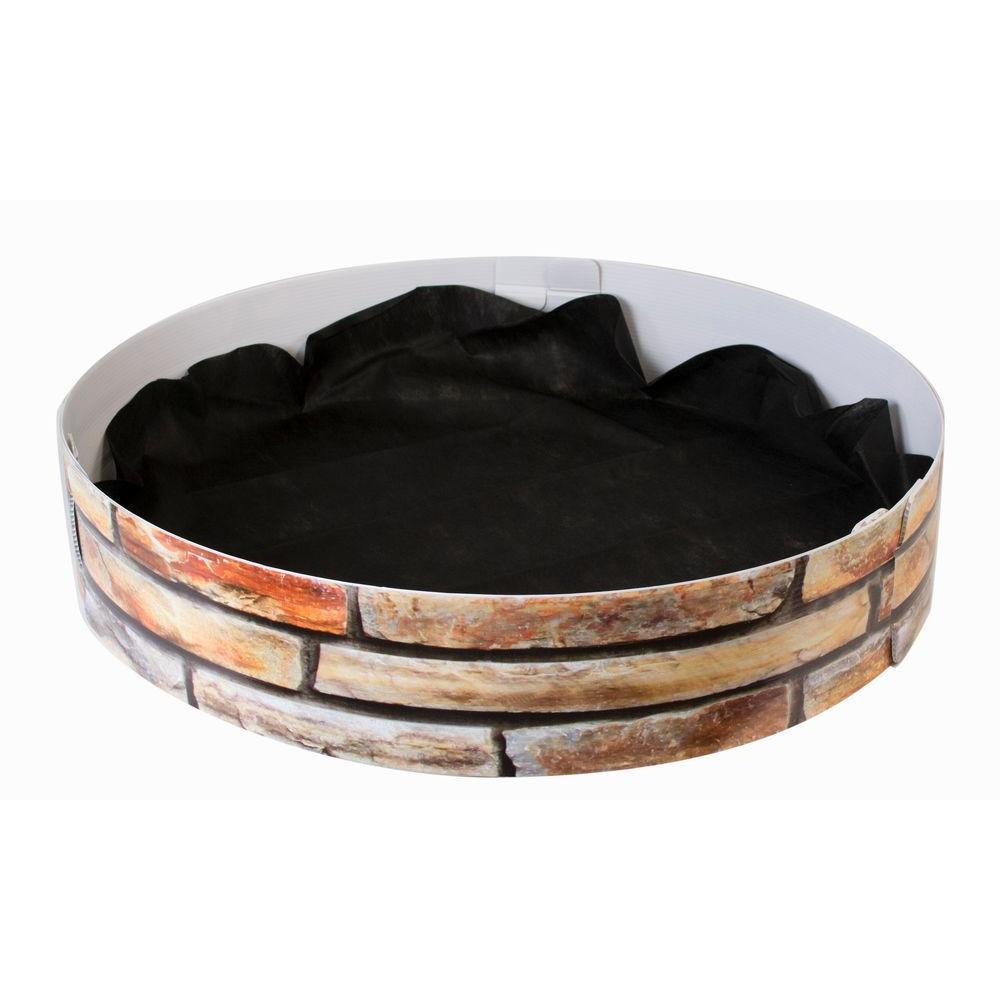 33 in. Dia Corrugated Plastic Sandstone Grow Rings