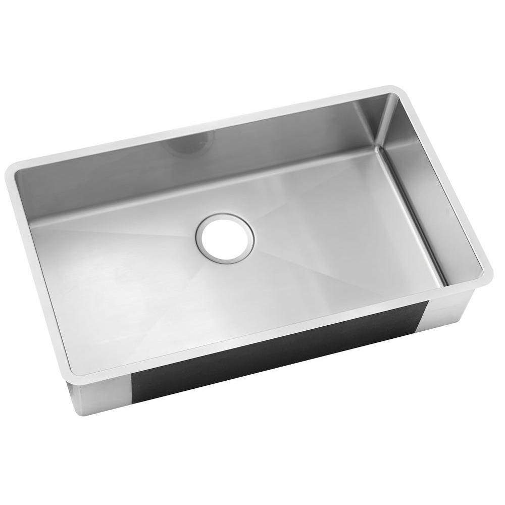 Elegant Elkay Crosstown Undermount Stainless Steel 24 In. Single Bowl Kitchen Sink HDU24189F    The Home Depot