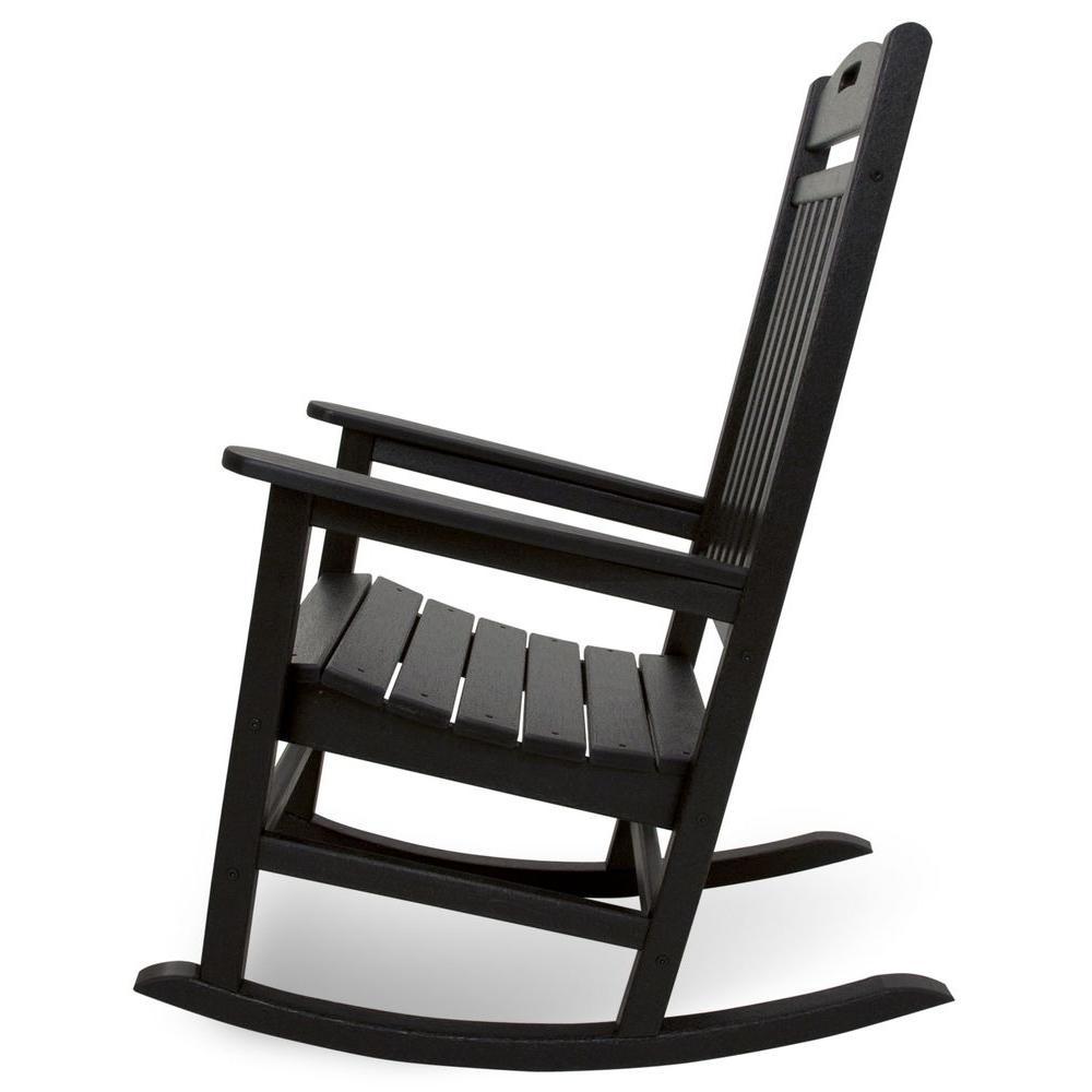 Sensational Trex Outdoor Furniture Yacht Club Charcoal Black Patio Rocker Andrewgaddart Wooden Chair Designs For Living Room Andrewgaddartcom