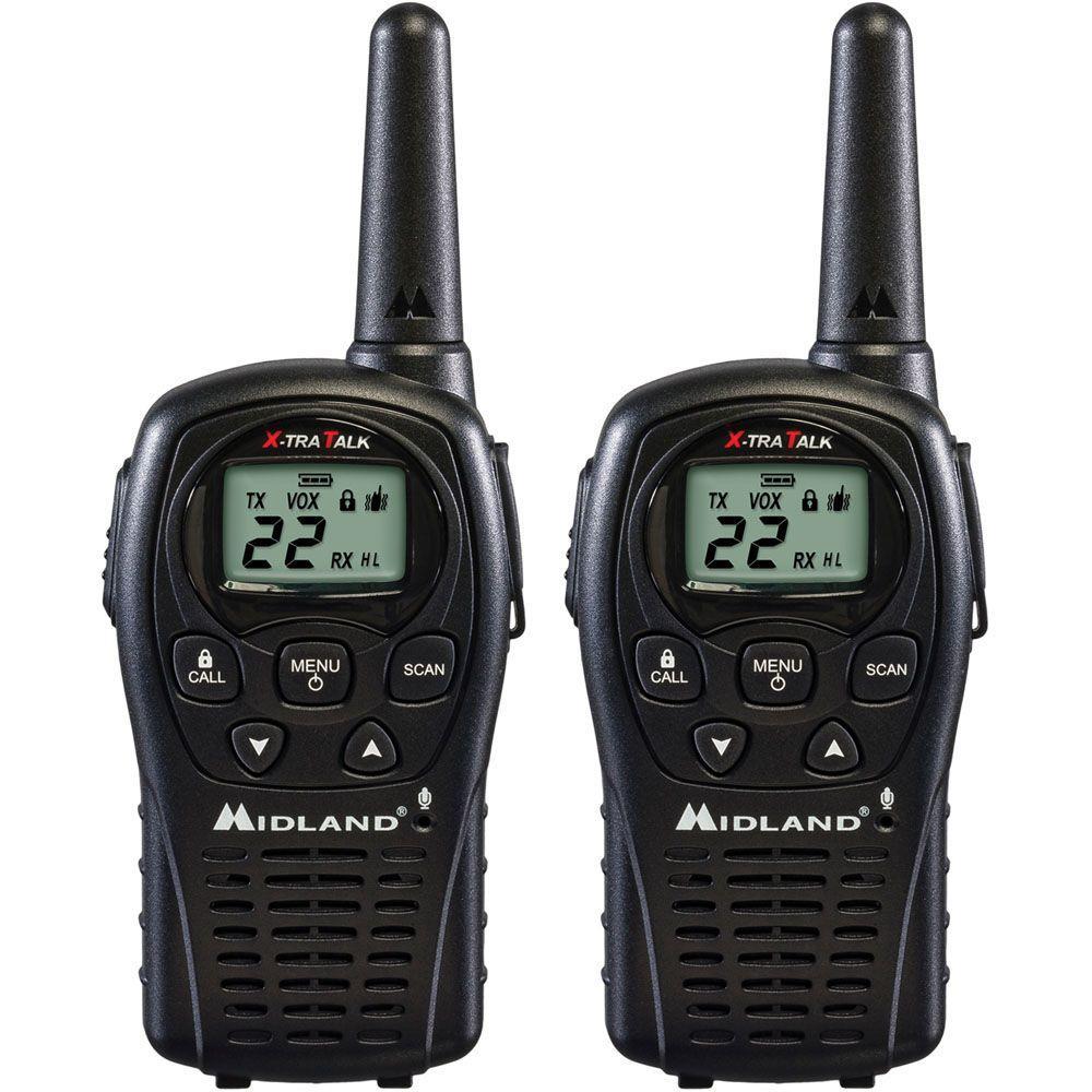 24-Mile 22 Channel 2-Way Radios - Black (2-Pack)