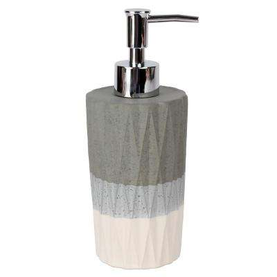 Cubes Free Standing Soap Pump in Dove Gray