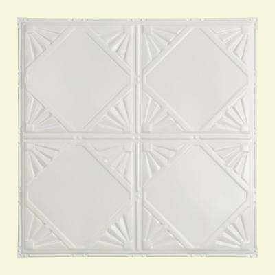 Erie 2 ft. x 2 ft. Nail-up Tin Ceiling Tile in Matte White