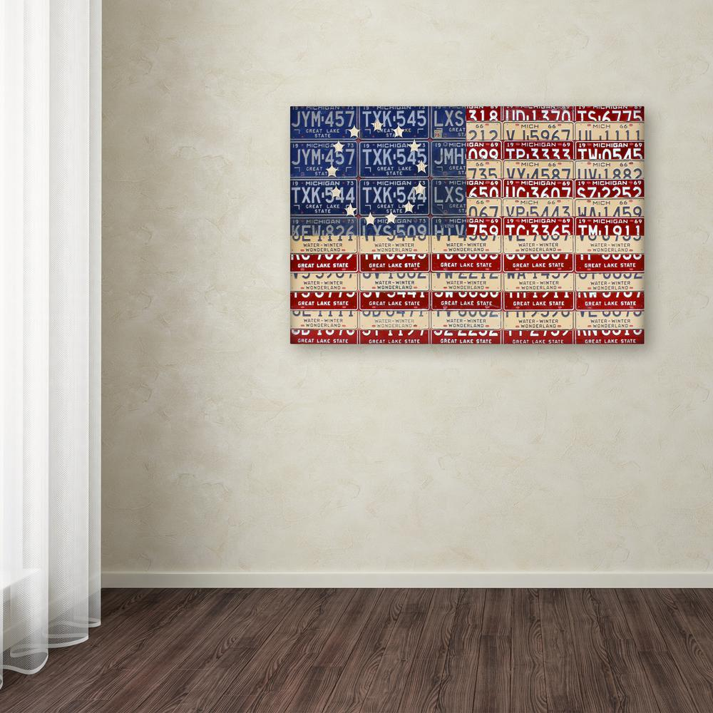 """16 in. x 24 in. """"Betsy Ross Flag"""" by Design Turnpike"""