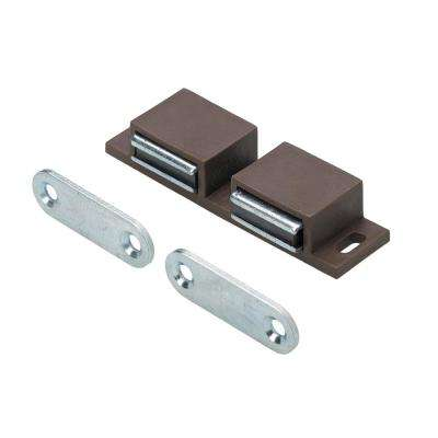 Magnetic Catch 2 x 6 lbs. With Counter Plates in Brown (1-Pack)