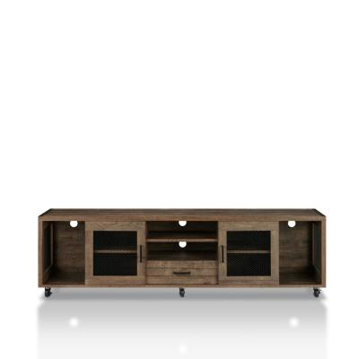Coopern 71 in. Reclaimed Oak TV Stand Fits TVs Up to 80 in. with Storage