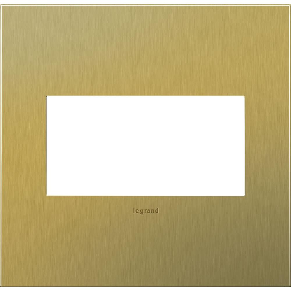 2-Gang 2 Module Wall Plate - Brushed Brass