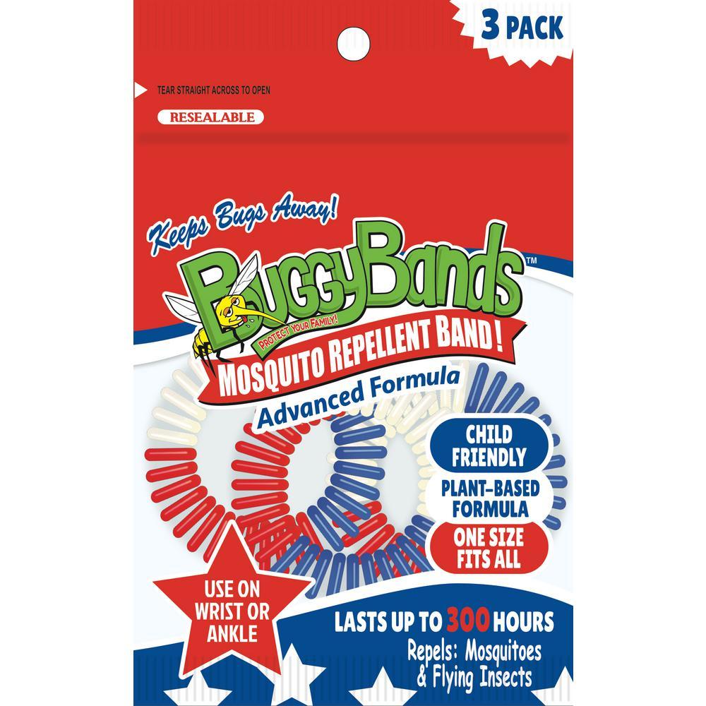 Buggybands Mosquito Repellent Bracelet 3 Pack