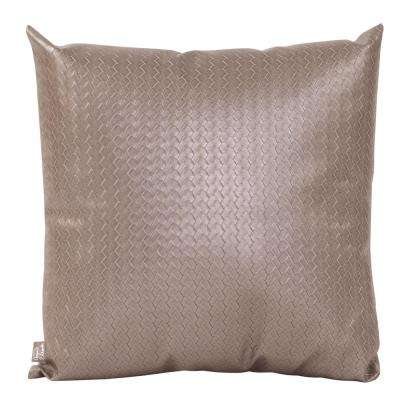 20 in. x 20 in. Gray Decorative Pillow Weave Pewter