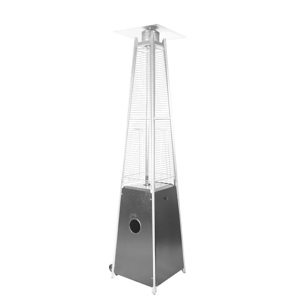 40 000 Btu Hammered Black Propane Outdoor Flame Patio Heater