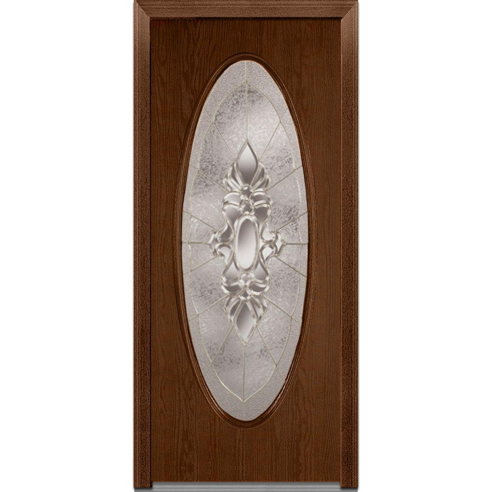 32 In. X 80 In. Heirloom Master Left Hand Decorative Oval Lite