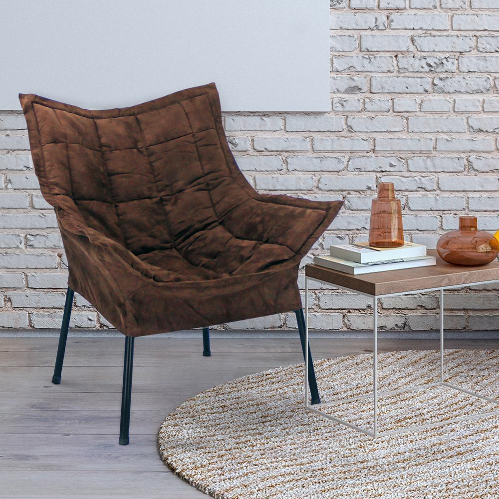 Awesome Casual Home Black Frame/Brown Cover Milano Chair