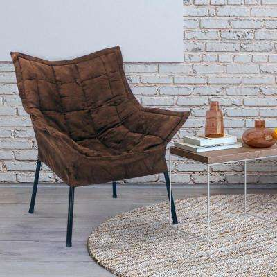 Black Frame/Brown Cover Milano Chair