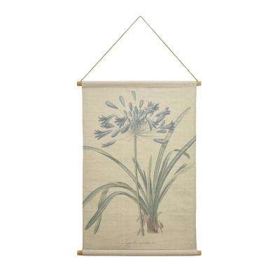 Agapanthus Hanging Linen Tapestry