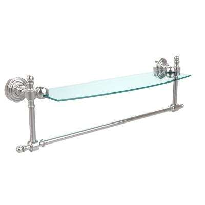 Retro Wave Collection 18 in. Glass Vanity Shelf with Integrated Towel Bar in Polished Chrome