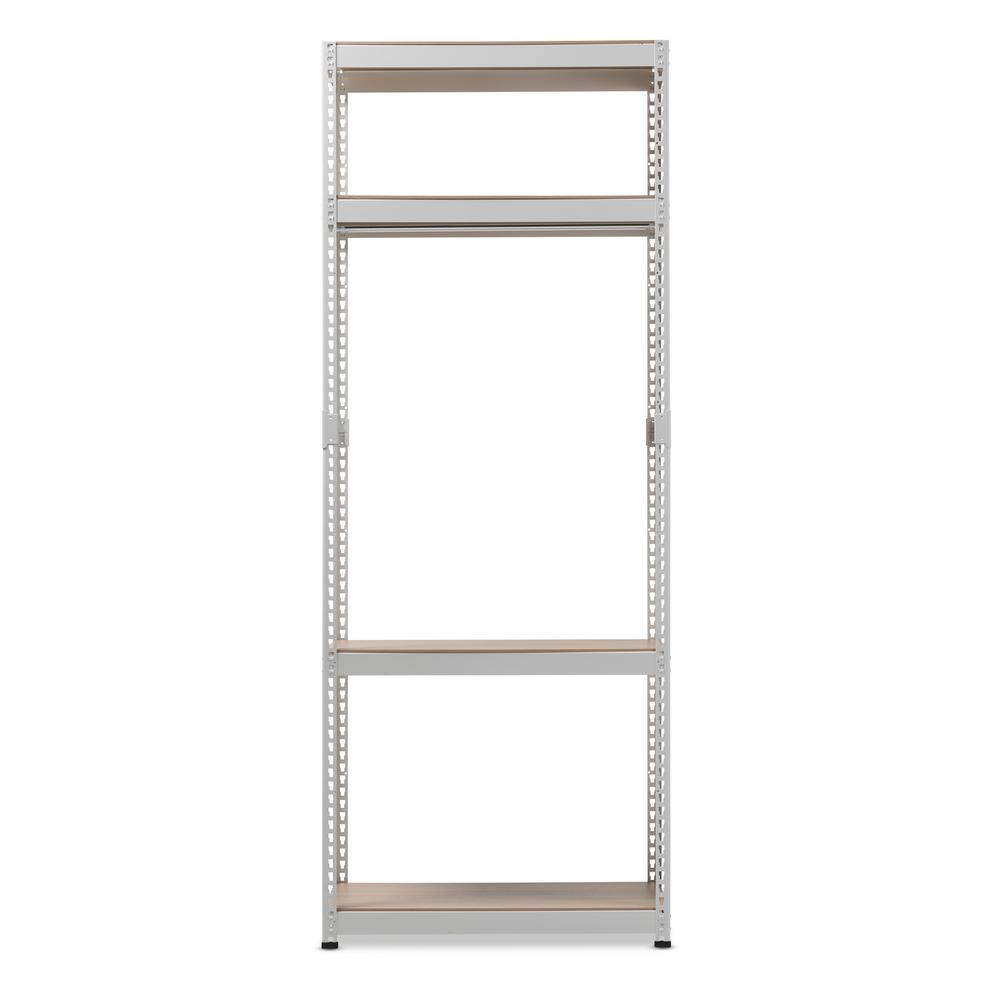 Gavin White Metal 4 Shelf Closet Storage Racking Organizer